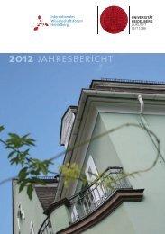 jahresbericht 2012 - Internationales Wissenschaftsforum Heidelberg