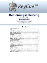 KeyCue Bedienungsanleitung - Ergonis Software
