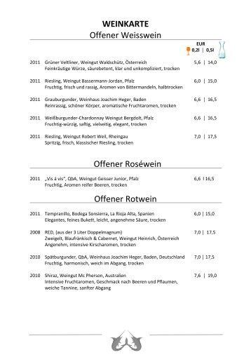 Wein - Restaurant FISCHclub Blankenese