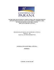 pr manual de procedimentos legislação sanitária avícola federal
