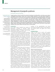 Management of postpolio syndrome
