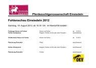 Fohlenschau Einsiedeln 2012