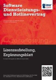 Software Dienstleistungs- und Hotlinevertrag - TIMECOM ® GmbH