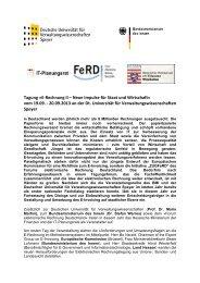 Tagung »E-Rechnung II – Neue Impulse für Staat und ... - FeRD