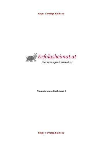 Traumsymbole mit Anfangsbuchstaben S ... - Traumheimat.at
