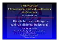 Künstliche Sauerstoffträger - bald von klinischer ... - NOTFALLGÄU