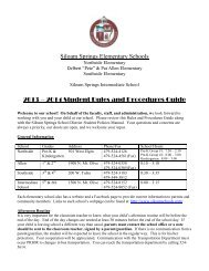 Student Procedure Guide 2013-2014 English - Northside Elementary