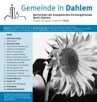 Gemeinde & Leben - Evangelische Kirchengemeinde Berlin-Dahlem