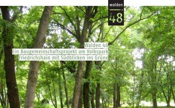 Walden 48 Ein Baugemeinschaftsprojekt am Volkspark ...
