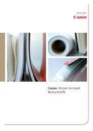 Canon. Wissen Kompakt Bedruckstoffe - canon.de