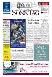 Nulldrei vor Rechtsstreit - Potsdamer Neueste Nachrichten