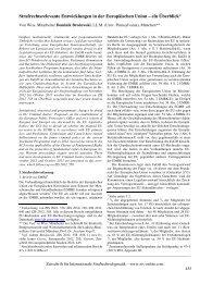 Strafrechtsrelevante Entwicklungen in der Europäischen Union ... - ZIS