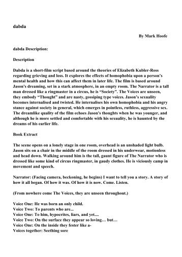By Mark Hoofe dabda Description: Description Dabda is a short-film ...