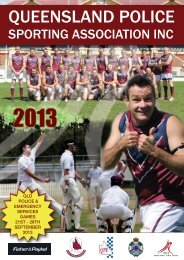 qld police & emergency services games 21st - 28th september 2013