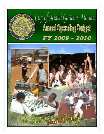 1 - Table of Contents & Intro - the City of Miami Gardens