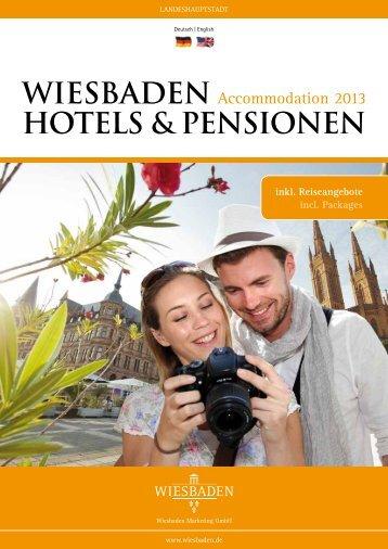 Hotels & Pensionen (PDF | 2,88 MB) - Landeshauptstadt Wiesbaden