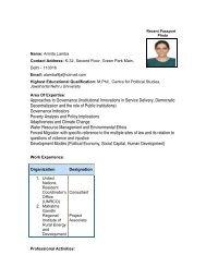 Ms.Amrita lamba - Indian Institute of Public Administration