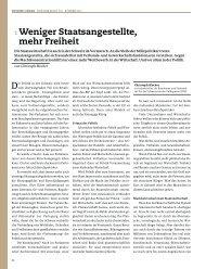 1 Weniger Staatsangestellte, mehr Freiheit - Christoph Blocher