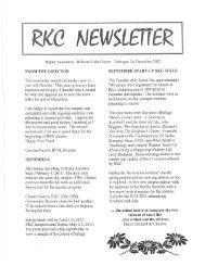 Winter Newsletter Roberta Kuhn Center Dubuque, IA December ...