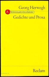Georg Herwegh Gedichte und Prosa