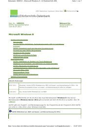 Windows 8 Info-Datenbank, Dok.-Nr. 1080322 - bei datenservice ...