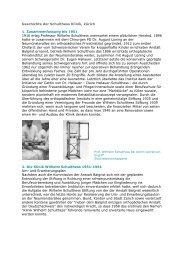Geschichte der Schulthess Klinik (PDF)