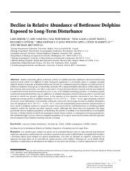 Decline in Relative Abundance of Bottlenose Dolphins Exposed to ...