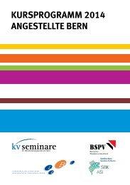 KURSPROGRAMM 2014 ANGESTELLTE BERN - BSPV
