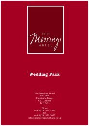 Download Wedding & Ceremonies Pack (.pdf) - The Moorings Hotel ...