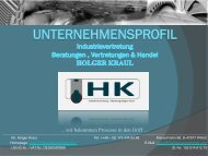 Company Profile Industrievertretung & Beratung Holger Kraul