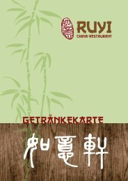 GETRÄNKEKARTE - RUYI CHINA RESTAURANT
