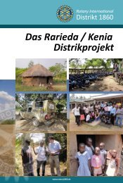 Das Rarieda / Kenia Distrikprojekt - Rotary Distrikt 1860