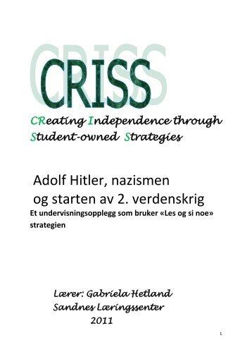 Adolf Hitler, nazismen og starten av 2. verdenskrig - Lesesenteret