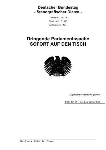 (SPD) am 01.02.2013 - Petra Hinz