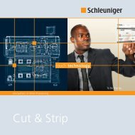 Cut & Strip Broschüre - Schleuniger in DE-AT-CH