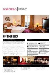 AUF EINEN BLICK - DORMERO Hotel Rotes Ross