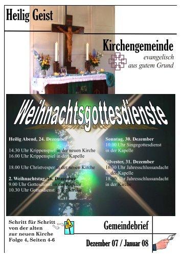 Gemeindebrief 12 / 07 bis 01 / 2008 (als PDF Datei) - Heilig Geist ...