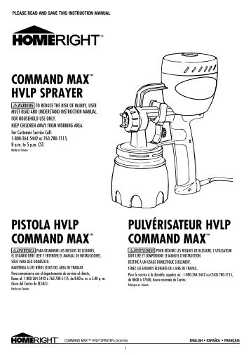 COMMAND MAX™ HVLP SPRAYER ... - HomeRight
