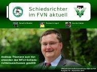 Schiedsrichter im FVN aktuell - Ausgabe September 2013