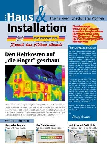 Haus Installation - Cremers TGA GmbH in Oberhausen