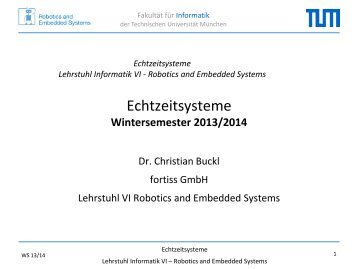 Folien - Robotics and Embedded Systems - TUM