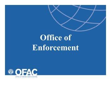 OFAC Trade Symposium – Enforcement Presentation - CTP Inc