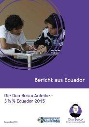 Bericht 2013: Die Don Bosco Anleihe - 3 ⅞ ... - Jugend Eine Welt