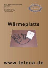 wärmeplatte neu.qxd - Teleca Vertriebs