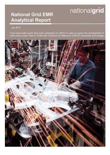 National Grid EMR Analytical Report - Gov.uk