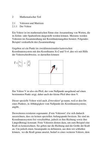 Mathematische Grundlagen zur 3D Berechnung - Mensch und ...