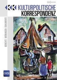 Ausgabe 1333 als PDF zum Download - Kulturportal West Ost