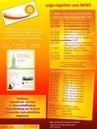 Newsletter Juni – Sept..2013 - Kundalini Yoga together-one