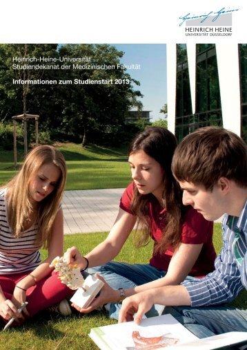 Erstsemesterbroschüre Medizin 2013-14 - Medizinische Fakultät