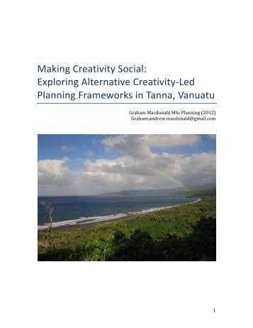 Making Creativity Social: Exploring Alternative ... - Cities Centre